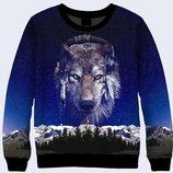 Классный 3D-свитшот Индейский волк