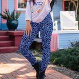 Стрейчевые лосины леггинсы в леопардовый принт Up Fashion.