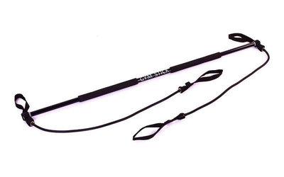 Палка гимнастическая для фитнеса с эспандерами Gym Stick 4412 длина 130см