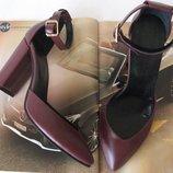 Mante Красивые женские натуральная кожа босоножки туфли каблук 10 см осень весна лето марсала кожа