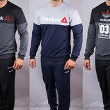 Спортивный мужской костюм Reebok Рибок и Adidas originals Адидас на манжетах