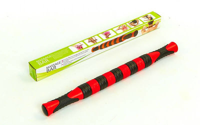 Массажер-Палка роликовый Massage Rope MS-06-9 9 шариков, длина 46 см