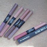 Стойкая жидкая матовая помада MAC ultra matte lip 2в1