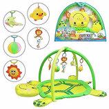 Коврик для младенца 898-12B мягкая черепаха, дуги с подвесками