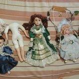 Цена за 7.Коллекционная винтажная кукла фарфор фарфоровая куколка клоун на детали реставрацию качеля