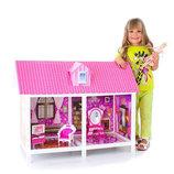 Кукольный домик две комнаты,мебель кукла 66882