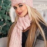Комплект «Камелия» шапка и шарф Артикул 4363-10