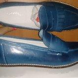 стильні сині туфлі шкіра р40 Annalisa нові Італія