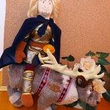 Мягкая игрушка кукла Кристофер и олень Свен. .ИЗ мультфильма Холодное сердце.Дисней. Disney.