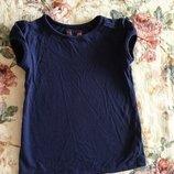 6-8 лет. TU насыщенный Синий цвет. футболочка с кружевом. насыщенный Синий цвет. футболочка с кружев