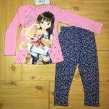 Демисезонный костюм для девочки Девочка с мишкой рр. 92