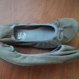 кожаные балетки. р32, стел. 21см