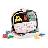 Развивающая двухсторонняя магнитная доска-чемоданчик 2-в-1 ABC-планшет буквы, алфавит Quercetti