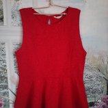 праздничная,нарядная блузка с баской,фактурная ткань, р 16 р 48-50