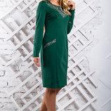 Стильное платье с утонченной перфорацией 853