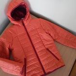 Курточка детская девочке 140 см 10 л фирменная болоновая с утеплителем осень весна Quechua