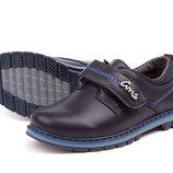 Туфли для мальчика синие на липучке, Смз, E1355 син , Тм EEB.B , Размеры 27, 28, 29, 30, 31, 32
