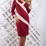 Платье с выгодной длиной до колена и оригинальным дизайном 865