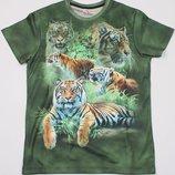 Яркая 3D футболка Тигры