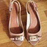 Moda in pelle нежные лаковые босоножки на шпильке с открытым носочком