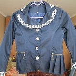 Пиджак школьный р.122, новый
