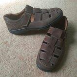 Полностью кожаные сандалии туфли Hotter Англия, идеальное сост