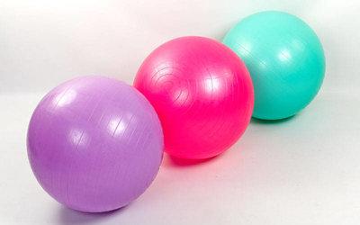 Мяч для фитнеса фитбол гладкий глянцевый 65см Zel 1980-65 вес 800г, система ABS