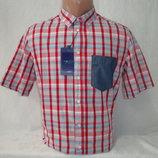 Распродажа Мужская рубашка в клетку с коротким рукавом Piazza Italia. Разные цвета.