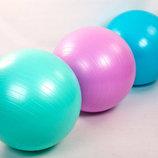 Мяч для фитнеса фитбол гладкий глянцевый 75см Zel 1984-75 вес 1000г, система ABS
