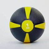 Мяч медицинский медбол 1кг 5122-1 диаметр 19см, вес 1кг