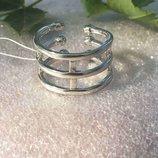 Кольцо серебряное Трио 1545