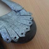 Туфли девочке 35 р. стелька 21,8 см Fornarina оригинал бренд блестки