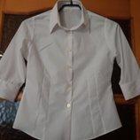 Рубашка в школу белая Marks&Spencer на девочку рост 146