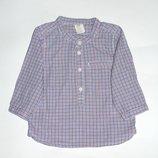 Стильная рубашка в клеточку, 6-9 мес., 9-12 мес., 1 год, 74, 80 Состояние новой