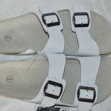 Шльопки шльопанці шкіряні ортопедичні esmara розміри 39 40 43 44 45