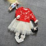 Платье арт 7-11 персик и красное
