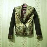 Пиджак р.34-38, BALIZZA EU-36 женский шикарный под кожу питона змеи