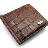 Зажим для купюр кожаный коричневый магнитный Desisan 208-15 Турция