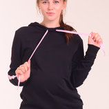 Удлиненный свитшот бобка с капюшоном для беременных и кормящих мам Babbi Hoody