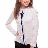 Блуза для девочки с трикотажная