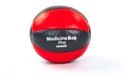 Мяч медицинский медбол Matsa 4кг 0241-2 диаметр 16см, вес 2кг верх кожа