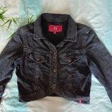 Обалденный укороченный пиджачек под джинс,трикотаж- двухнитка р.М