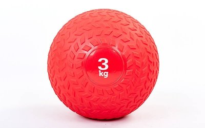 Мяч медицинский слэмбол Slam Ball 3кг 5729-3 диаметр 23см, вес 3кг