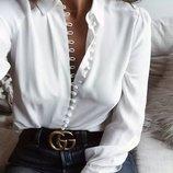 белые рубашки на пуговицах