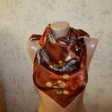 платок натуральный сатиновый стильный модный