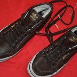 кожанные утепленные кеды adidas