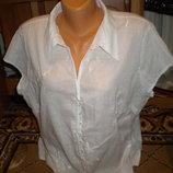 легусенькая блуза батал 18 размер беленькая