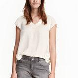Атласная блузка, H&M, L