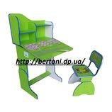 Детская парта стул E2071 GREEN Веселой учебы