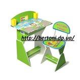 Детская парта стул E2017 GREEN Веселой учебы